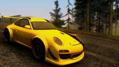 Porsche 911 GT3 R 2009 Black Yellow for GTA San Andreas