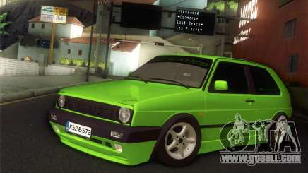 Volkswagen Golf Mk2 Zelengija for GTA San Andreas