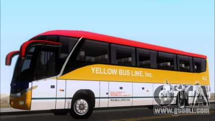 Marcopolo Paradiso G7 1050 Yellow Bus Line A-2 for GTA San Andreas