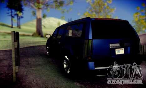Cadillac Escalade Ninja for GTA San Andreas back view