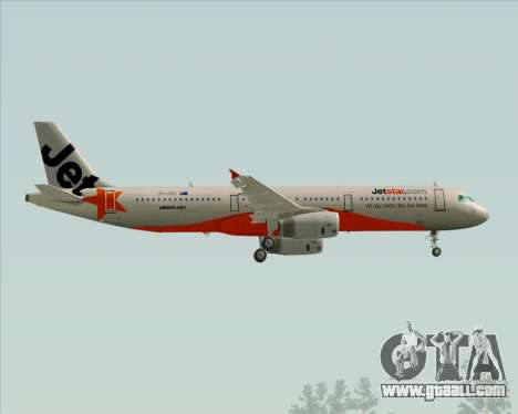Airbus A321-200 Jetstar Airways for GTA San Andreas side view