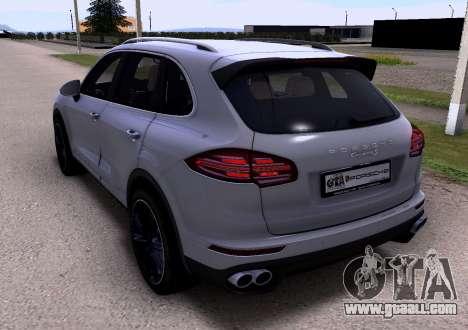 Porsche Cayenne 2015 for GTA San Andreas left view