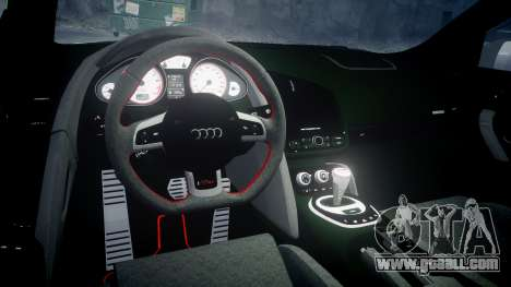 Audi R8 GT Coupe 2011 Yoshino for GTA 4 inner view