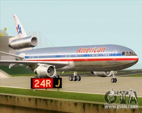 McDonnell Douglas DC-10-30 American Airlines for GTA San Andreas inner view