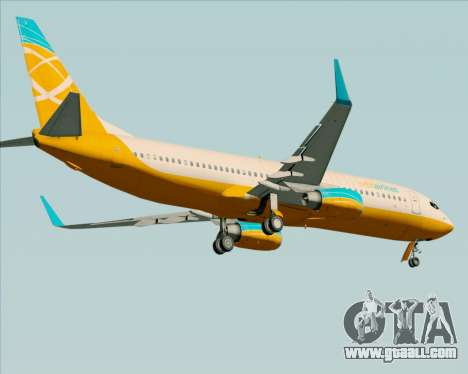 Boeing 737-800 Orbit Airlines for GTA San Andreas bottom view