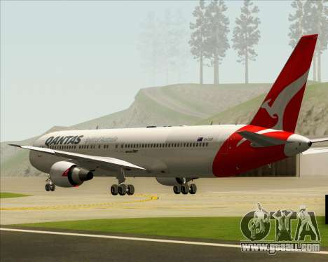 Boeing 767-300ER Qantas (New Colors) for GTA San Andreas inner view