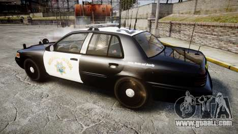 Ford Crown Victoria CHP CVPI Liberty [ELS] for GTA 4 left view