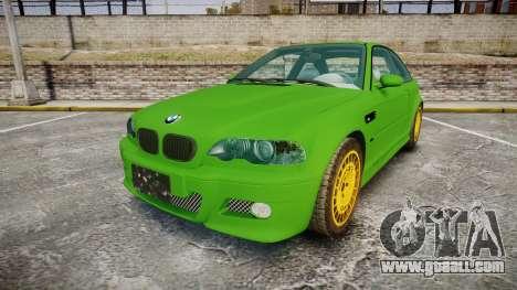 BMW M3 E46 2001 Tuned Wheel Gold for GTA 4
