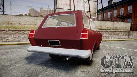 FSO Warszawa Ghia Kombi 1959 for GTA 4 back left view