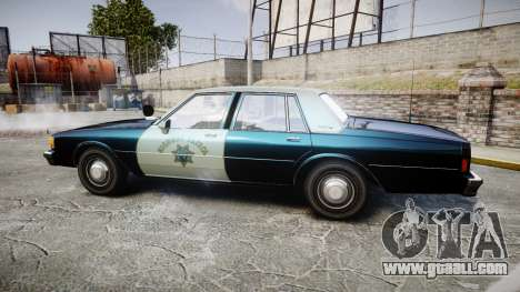 Chevrolet Caprice 1986 Brougham Police [ELS] for GTA 4 left view