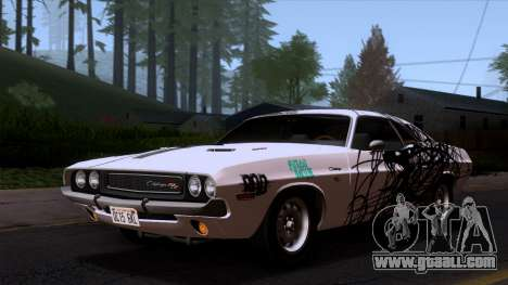 Dodge Challenger 426 Hemi (JS23) 1970 (ImVehFt) for GTA San Andreas bottom view