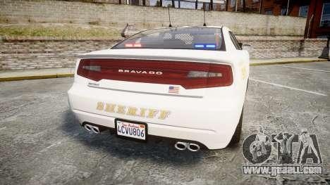 GTA V Bravado Buffalo LS Sheriff White [ELS] Sli for GTA 4 back left view