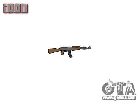 АК-47 graffiti camo for GTA 4 third screenshot