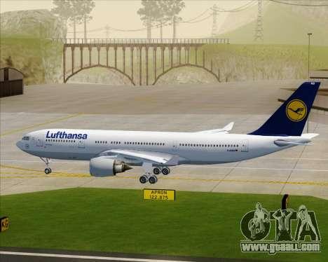 Airbus A330-200 Lufthansa for GTA San Andreas