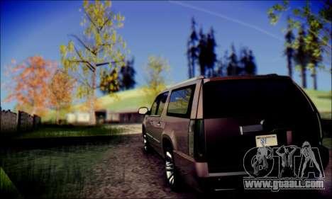 Cadillac Escalade Ninja for GTA San Andreas back left view