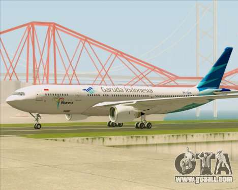Airbus A330-243 Garuda Indonesia for GTA San Andreas back left view