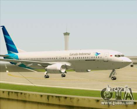 Boeing 737-800 Garuda Indonesia for GTA San Andreas back view