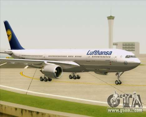 Airbus A330-200 Lufthansa for GTA San Andreas left view
