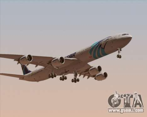 Airbus A340-600 EgyptAir for GTA San Andreas left view