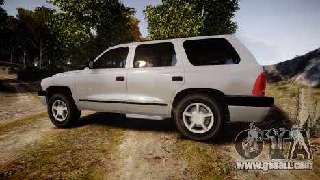 Dodge Durango 2000 Undercover [ELS] for GTA 4 left view