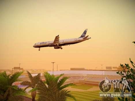 Airbus A321-232 jetBlue La vie en Blue for GTA San Andreas upper view
