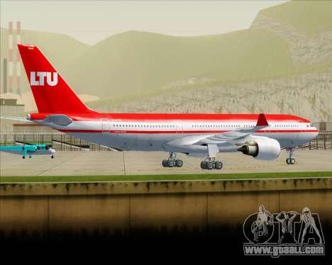 Airbus A330-200 LTU International for GTA San Andreas bottom view