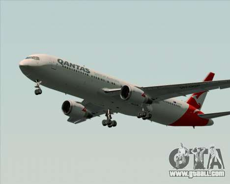 Boeing 767-300ER Qantas (New Colors) for GTA San Andreas back left view