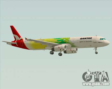 Airbus A321-200 Qantas (Socceroos Livery) for GTA San Andreas bottom view