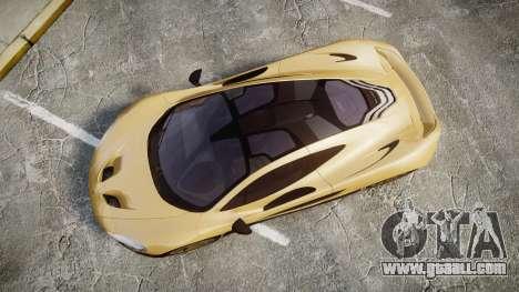 McLaren P1 [EPM] for GTA 4 right view