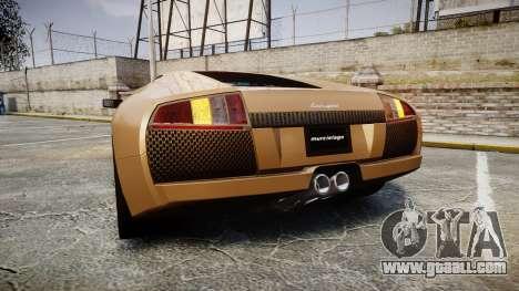 Lamborghini Murcielago 2005 for GTA 4 back left view