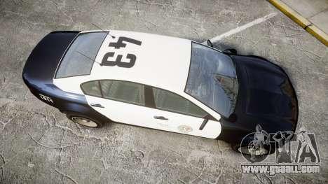 GTA V Cheval Fugitive LS Police [ELS] Slicktop for GTA 4 right view