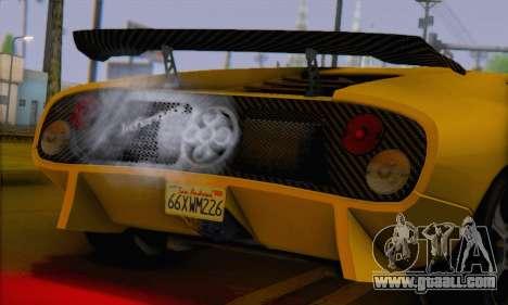 Pegassi Infernus for GTA San Andreas back left view