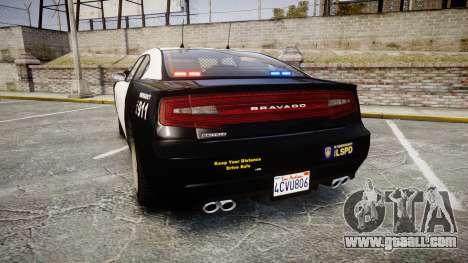 GTA V Bravado Buffalo LS Police [ELS] Slicktop for GTA 4 back left view