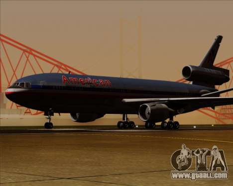 McDonnell Douglas DC-10-30 American Airlines for GTA San Andreas back left view