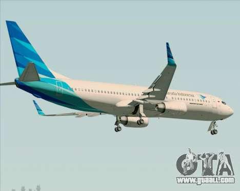 Boeing 737-800 Garuda Indonesia for GTA San Andreas side view
