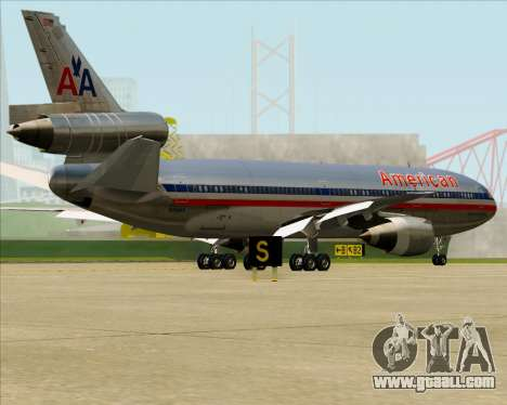 McDonnell Douglas DC-10-30 American Airlines for GTA San Andreas bottom view