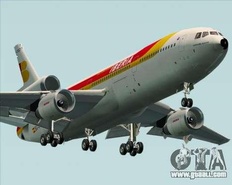 McDonnell Douglas DC-10-30 Iberia for GTA San Andreas left view