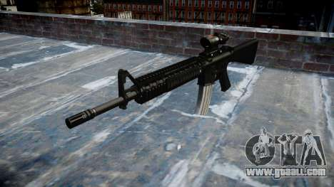 Rifle M16A4 ACOG target for GTA 4