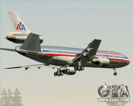 McDonnell Douglas DC-10-30 American Airlines for GTA San Andreas right view