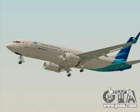 Boeing 737-800 Garuda Indonesia for GTA San Andreas inner view