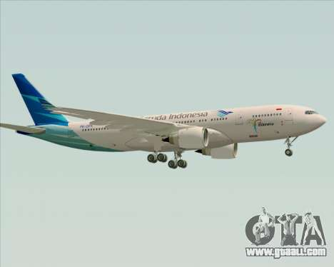 Airbus A330-243 Garuda Indonesia for GTA San Andreas right view