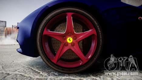 Ferrari FF 2012 Pininfarina Blue for GTA 4 back view