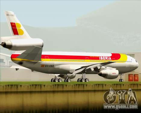 McDonnell Douglas DC-10-30 Iberia for GTA San Andreas back left view
