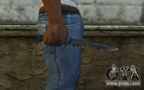 Knife from CS:S Bump Mapping v1 for GTA San Andreas third screenshot