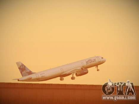 Airbus A321-232 jetBlue La vie en Blue for GTA San Andreas bottom view