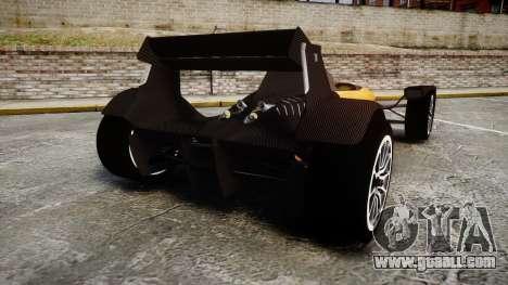 Caparo T1 for GTA 4 back left view
