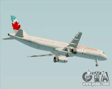 Airbus A321-200 Air Canada for GTA San Andreas back view