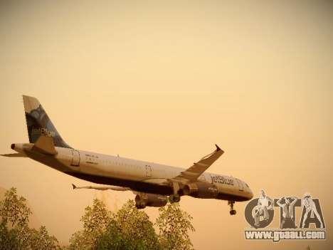 Airbus A321-232 jetBlue La vie en Blue for GTA San Andreas wheels