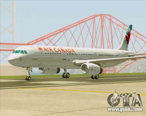 Airbus A321-200 Air Canada for GTA San Andreas left view