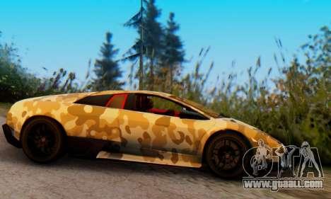 Lamborghini Murcielago Camo SV for GTA San Andreas back left view